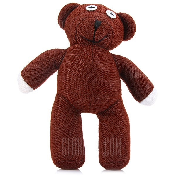 Mr Bean Bear Figure 22cm 3D Model Plush Toy Animals Stuffed Doll