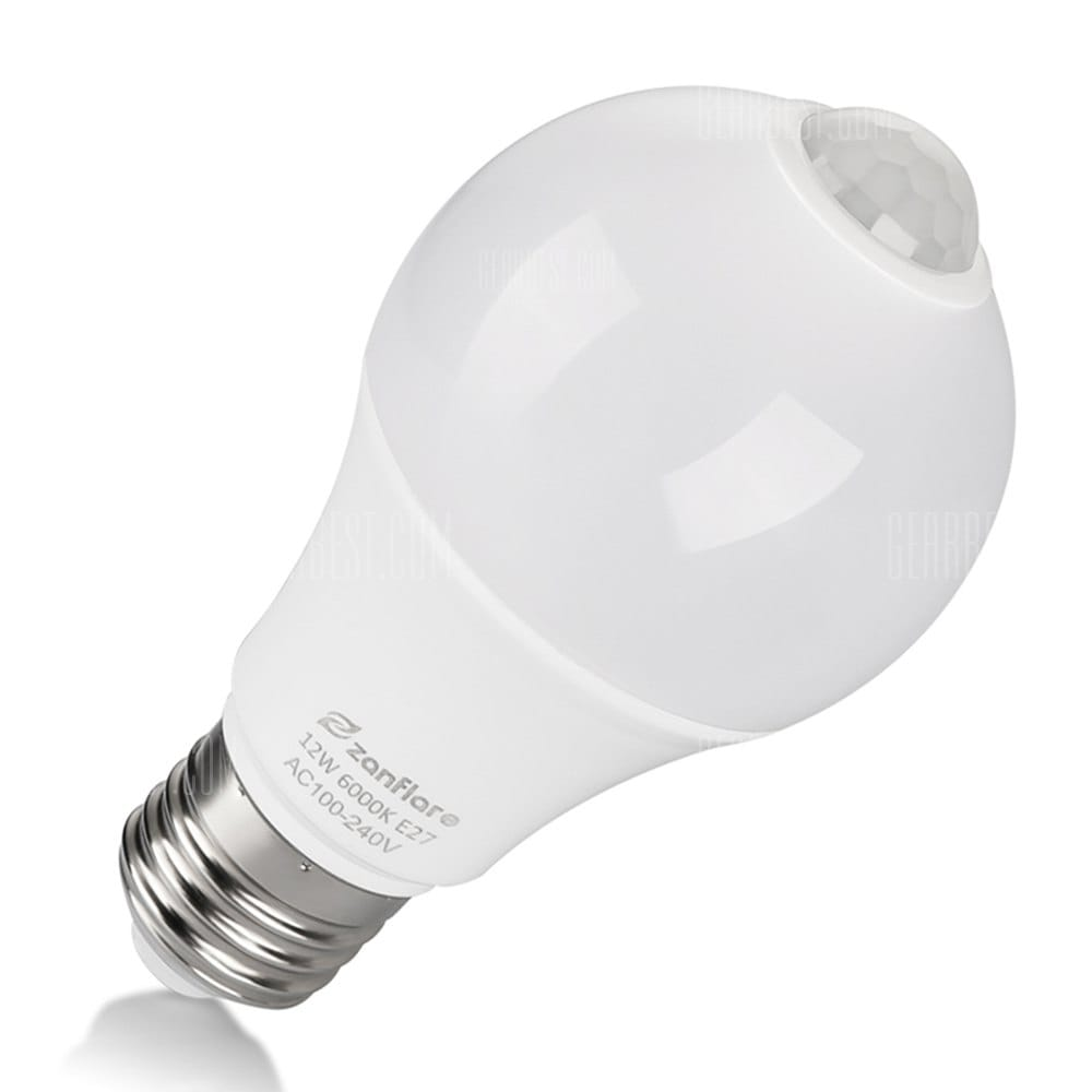 zanflare QP6012SA Infrared Motion Sensor Light Bulb 6000K