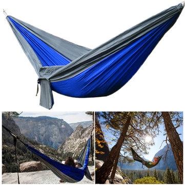 IPRee® Upgraded Type 270x140CM 210T Nylon Double Hammock Portable Swing Bed Max Load 250kg