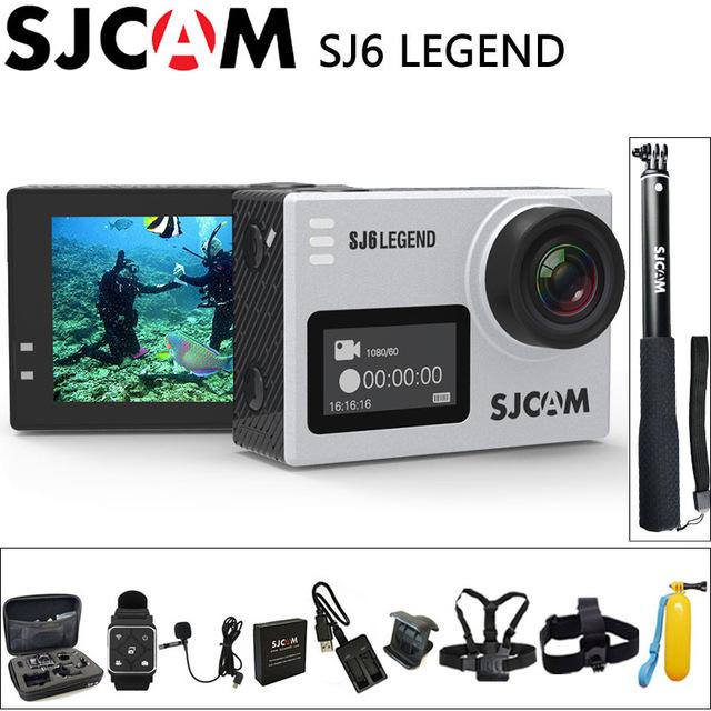 """100% Original SJCAM SJ6 Legend Sport Action Camera 4K Wifi 30M Waterproof Ultra HD 2"""" Touch Screen Notavek 96660 Sport DV"""