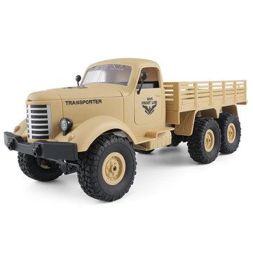 JJRC Q60 1/16 2.4G 6WD Off-Road Military Truck Crawler RC Car