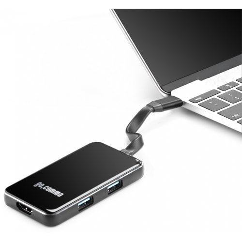 Gocomma 6 in 1 USB 3.1 Type-C Hub Aluminum Alloy Adapter