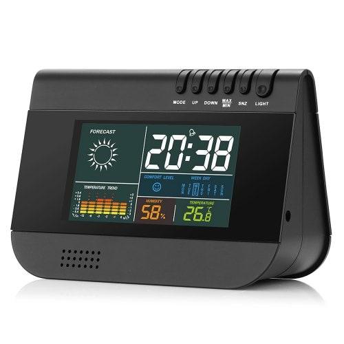 Gocomma GO - A1 Wireless Temp Humidity Weather Forecast Alarm Clock
