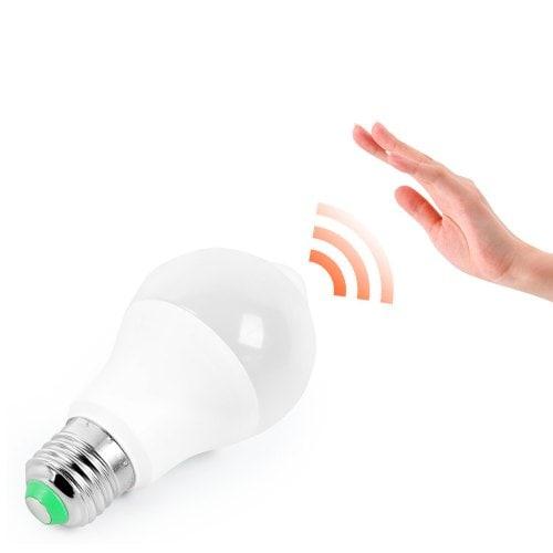 Infrared Motion Sensor LED Light Bulb Lamp Screw Base for Indoor Lighting