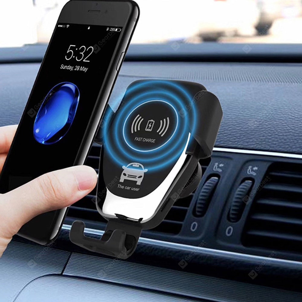 Gocomma 10W QI Wireless Fast Charger Car Mount Holder