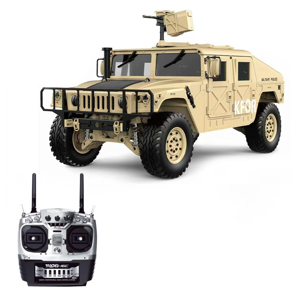 HG P408 1/10 2.4G 4WD U.S.4X4 Military Vehicle Truck RC Car Without Battery Charger RTR - Khaki