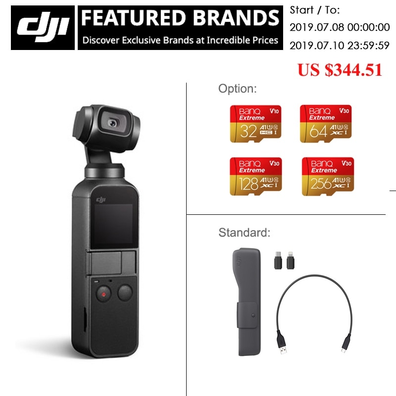 DJI Osmo Pocket the smallest 3 axis stabilized handheld camera original brand new newest DJI osmo in stock