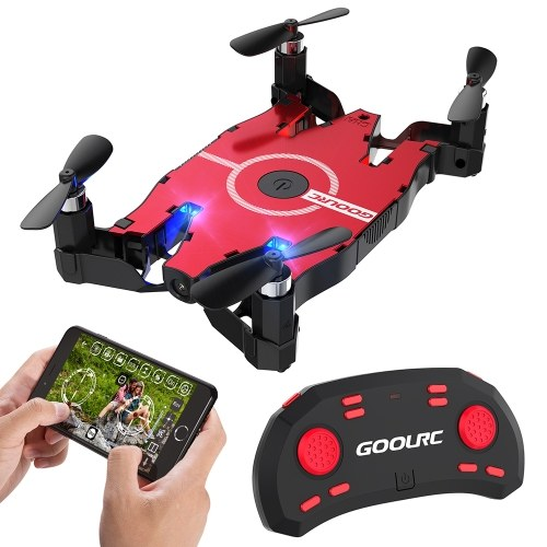 GoolRC T49 6-Axis Gyro WIFI FPV 720P HD Camera Quadcopter Foldable G-sensor RC Selfie Pocket Drone RTF