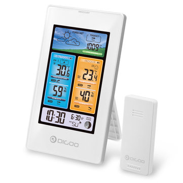 DIGOO DG-EX003 Vertical Color Screen Weather Station Temperature Humidity Outdoor Sensor Thermometer Hygrometer