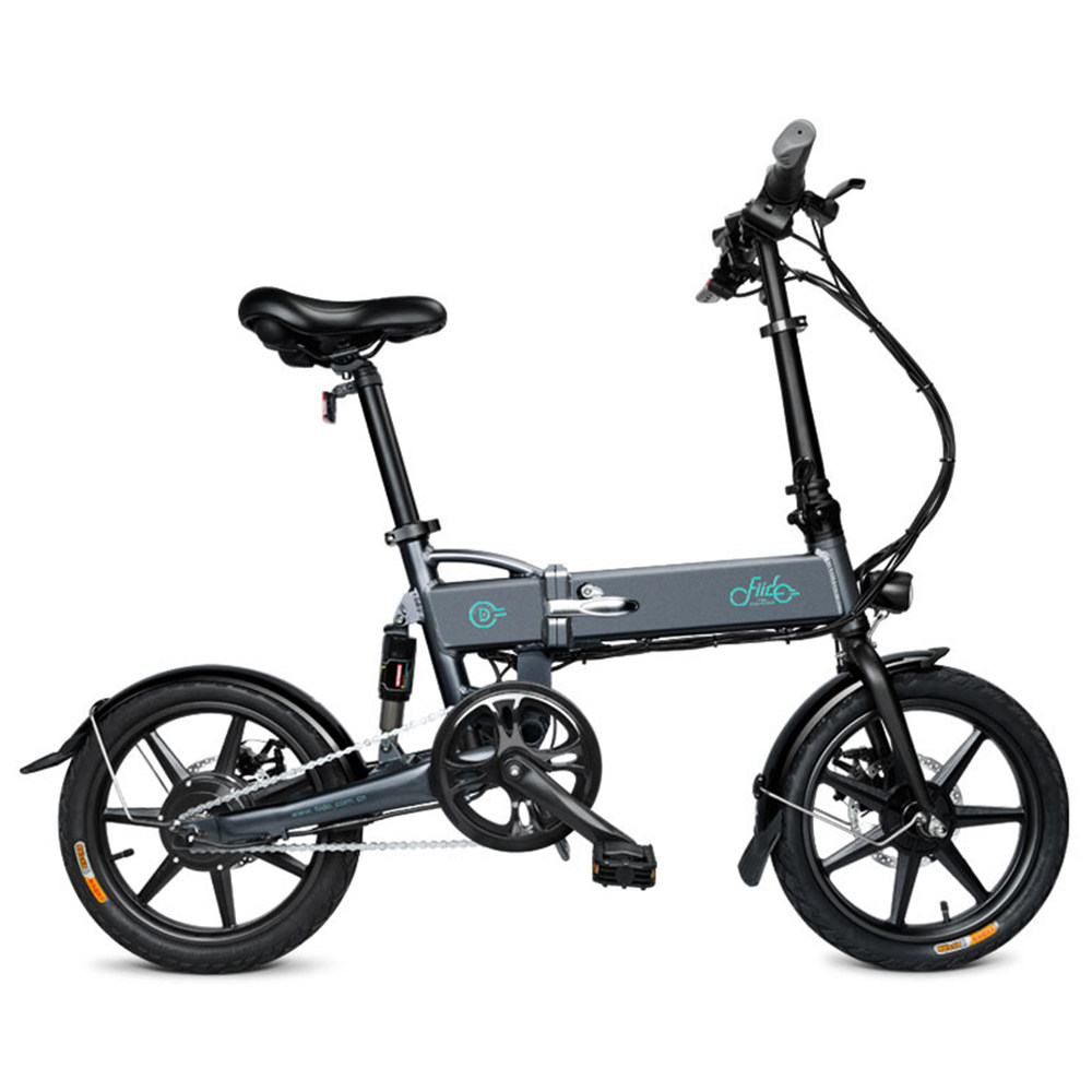 FIIDO D2 Folding Electric Moped Bike City Bike Commuter Bike Three Riding Modes 16 Inch Tires 250W Motor 25km/h 7.8Ah Lithium Battery 20-35KM Range - Black