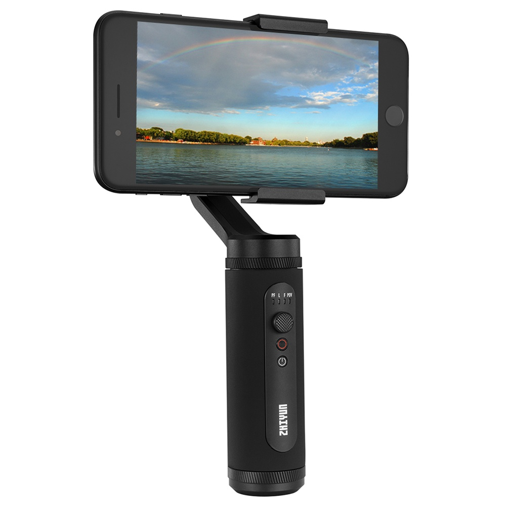 Zhiyun Smooth Q2 Pocket-Size 3-Axis Smartphone Gimbal Stabilizer With Quick Release Latch Dolly Zoom 17h Long Standby - Black