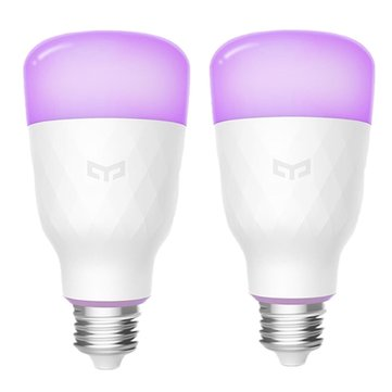 2PCS Yeelight YLDP06YL E27 10W RGBW Smart LED Bulb Work With Amazon Alexa AC100-240V(Xiaomi Ecosystem Product)