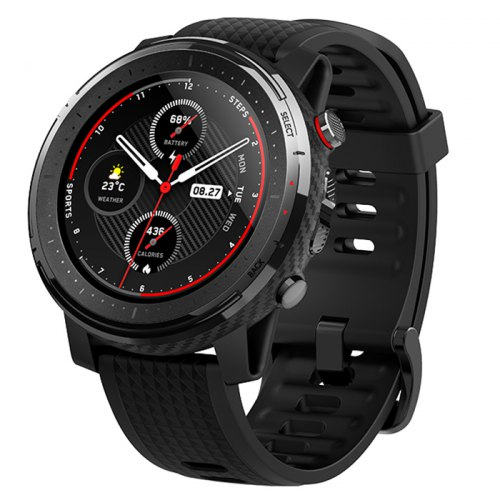 Amazfit Stratos 3 Smart GPS Sports Watch 1.34 inch Screen 5ATM Waterproof Multi-sports Modes BioTracker Heart Rate Monitor MP3 Player