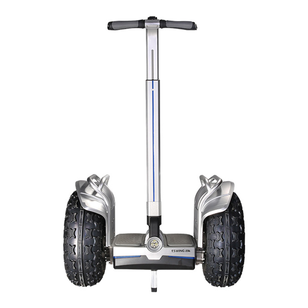 ESWING ES6+ City Electric Two-wheel Self Balancing Scooter Off Road Type 19 Inch Tire Buit-in GPS With Bluetooth APP Control - Silver