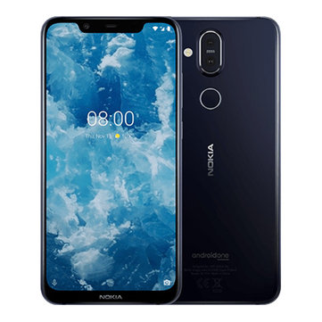 Nokia 8.1 Global Version 6.18 inch FHD+ Pure Display NFC Android 10 3500mAh 20MP Front Facing Camera 4GB RAM 64GB ROM Snapdragon 710 Octa Core 4G Smartphone