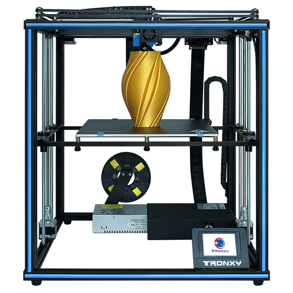 Tronxy X5SA Pro ARM 32 Bit Mainboard Industrial 3D Printer 330*330*400mm CoreXY Motion Modes 3.5 Inch Touch Operating Screen Titan Extruder Auto-leveling - Blue