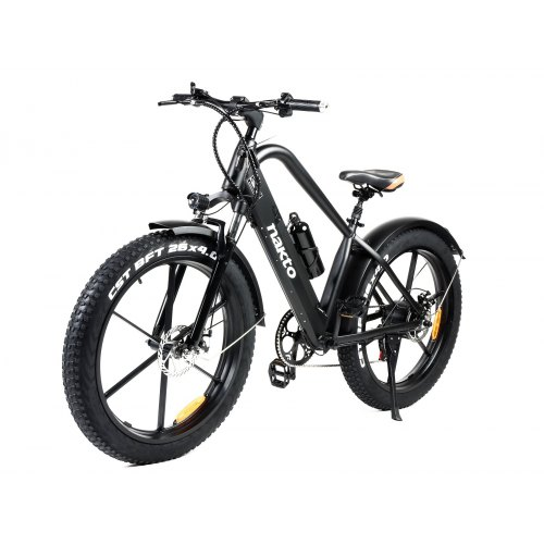 Nakto Black 26in 500W 48V 12Ah Fat Tire 6-Speed With LCD E-Bike ---Netherland