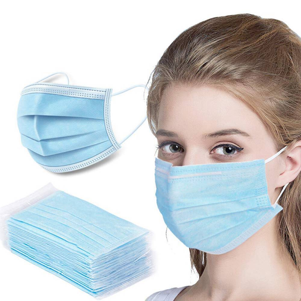 50PCS Medical Disposable Masks 3-Layers Protective Sterilized BFE 95% Filtration With CE FDA Certified Safety Mouth Mask