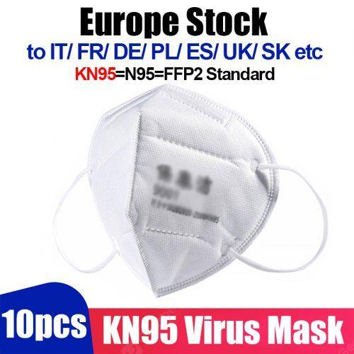 Europe Stock 10pcs 4pcs KN95 Virus Mask N95 Face Mask Anti-Dust PM2.5 Fog