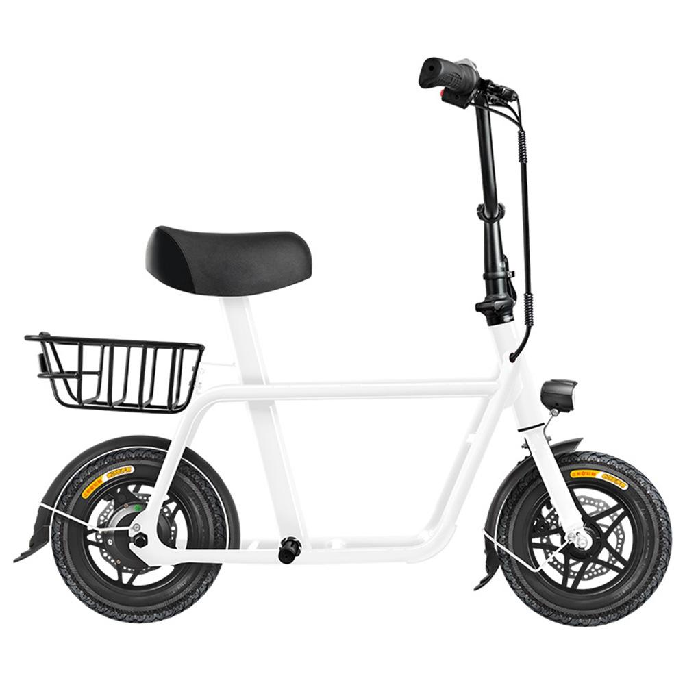 FIIDO Q1 Folding Electric Moped Bike 12 Inch 250W Brushless Motor Up To 35-55km Range Dual Disc Brake Electronic Lock LED Display - White