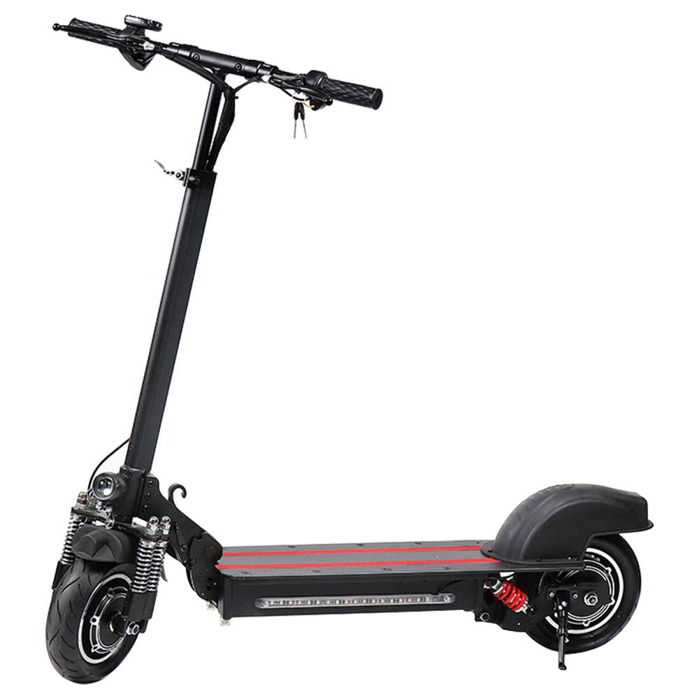 GYL002 Folding Electric Scooter 10 Inch Tire 1200W Brushless Dual Motor Max Speed 45km/h Up To 45km Range Disc Brake Smart Display - Black