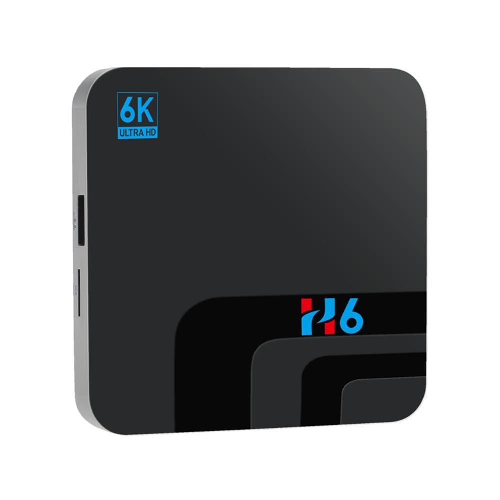 H6 Allwinner H6 Android9.0 4G/32G 6K HDR TV Box 2.4G WiFi 100Mbps LAN USB3.0 - Black