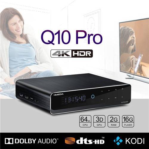 """Himedia Q10 Pro Android 7.0 Hi3798CV200 4K HDR 2GB/16GB TV BOX 802.11AC WIFI 1000M LAN Dolby DTS-HD 3D Blu-ray 3.5"""" SATA HDD Bluetooth Media Player"""
