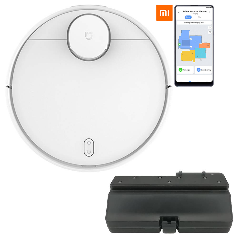 Xiaomi MI Home STYJ02YM Robot Vacuum Cleaner 2 in 1 Sweeping Mopping LDS Version 2100pa Intelligent Electric Control Water Tank Three Cleaning Modes + Extra Water Tank