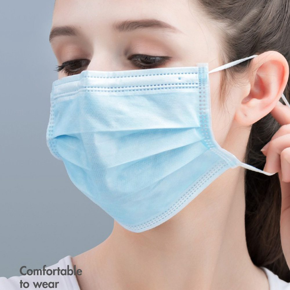 50PCS Baozhi 3 ply Medical Disposable Masks with Earloop For Germ Protection BFE 95% Filtration Effect With CE FDA Certified - Blue(DHL Express Shipping)