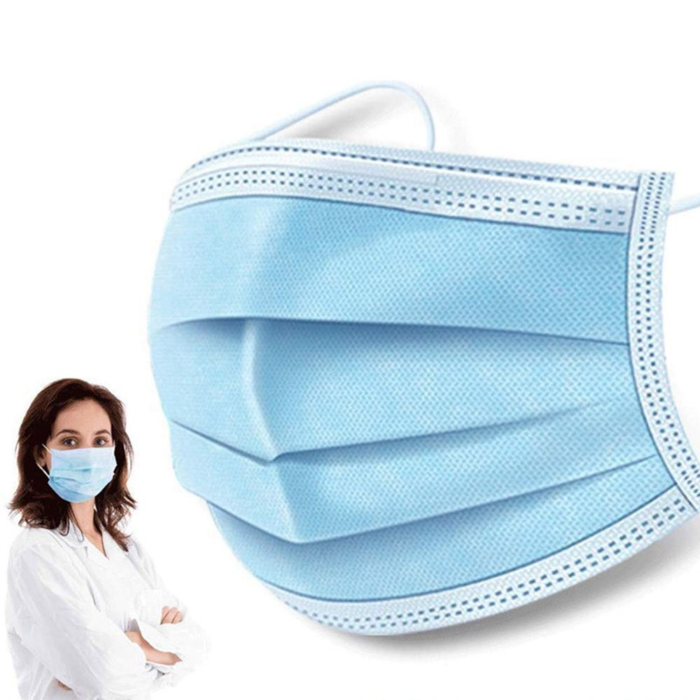 50PCS Xiaolai 3 ply Medical Disposable Masks Enhance with Earloop For Germ Protection BFE 95% Filtration Effect With CE FDA Certified - Blue(DHL Express Shipping)