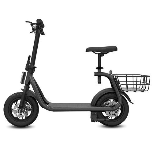Eswing M11 Folding Electric Scooter 350W Motor 10Ah Battery 12 Inch Tire Double Disc Brake System-Black
