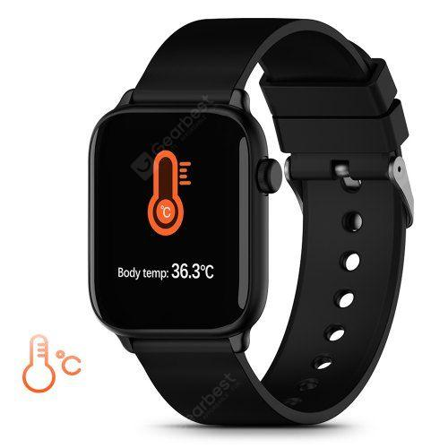 TICWRIS GTS Real-time Body Temperature Watch Heart Rate Monitor 7 Sports Modes Sports Smartwatch with Bluetooth 4.0