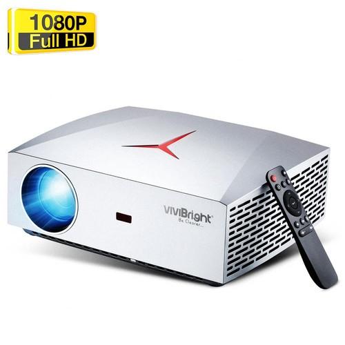 "VIVIBRIGHT F40 Native 1080P LED Projector 4200 Lumens 300"" Image Size 15000:1 Contrast Ratio HiFi Stereo Speaker HDMI SPDIF - White"