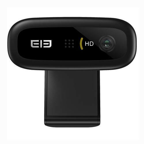 Elephone Ecam X 1080P HD Webcam 5.0 MegaPixels Auto Focus Built-in Microphone for PC Laptop Tablet TV Online Course Studying Video Conference - Black