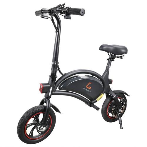 KUGOO Kirin B1 Folding Moped Electric Bike 250W Brushless Motor Max Speed 25km/h 6AH Lithium Battery Disc Brake 12 Inch Pneumatic Tires - Black