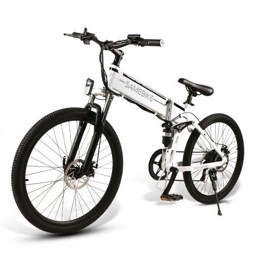 Samebike LO26 48V500W electric mountain bike Folding ebike Eu plug electric bicycle 3-5 Days Arrival