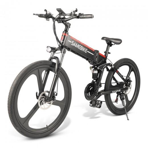 Samebike LO26 Smart Foldable Electric Moped Bike - Black