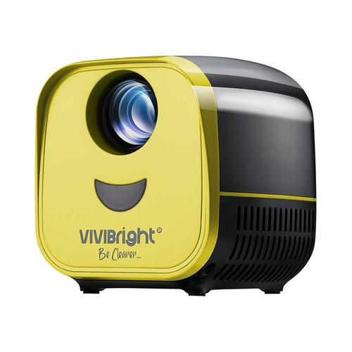 "VIVIBRIGHT L1 2200LM 480P LED Projector 120"" Image Size 8000:1 Contrast Ratio Stereo Speaker HDMI - Black"