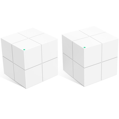 2PCS TENDA MW6 Mesh 2.4GHz + 5GHz WiFi Router Through-Wall Full Coverage Smart QoS AC1200 Dual Frequency Support MU-MIMO Technology APP Control - White