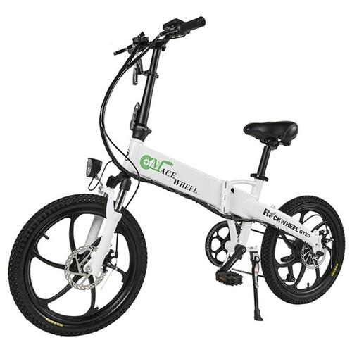 CMACEWHEEL GT20 Folding Electric Bike 20 Inch Tire 350W Motor Max Speed 30km/h Up To 30km Range Disc Brake - White