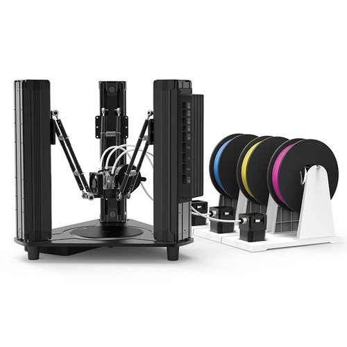 DOBOT MOOZ-3 Color Mixing 3D Printer 3-in 1-out Mix Color Print Head Full Color Range Triple Extruder Glass Heated Bed Mobile App Control