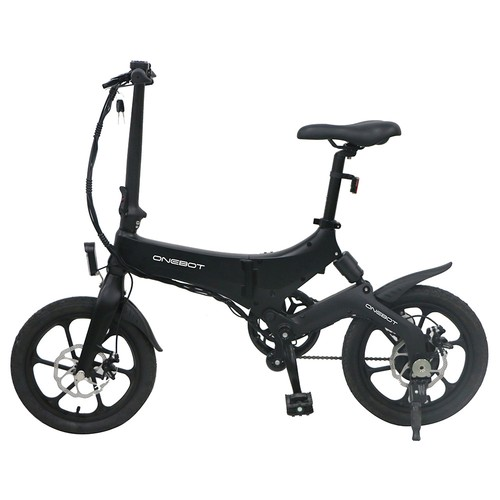 ONEBOT S6 Portable Folding Electric Bike 250W Motor Max 25km/h 6.4Ah Battery - Black
