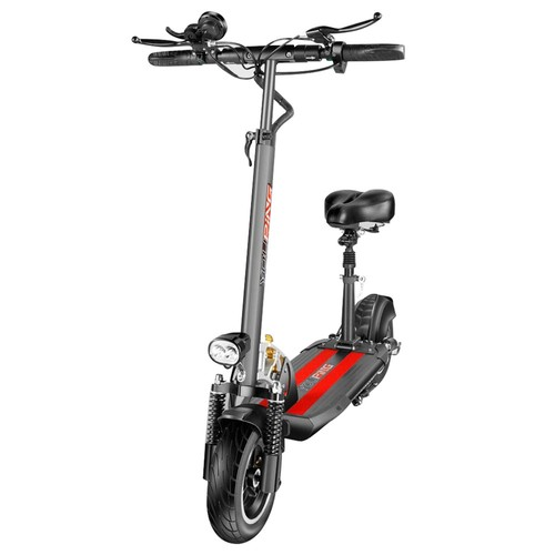 YOUPING Q02 Folding Electric Scooter 500W Motor 48V/15Ah Battery 10 Inch Tire Containing Seat - Black
