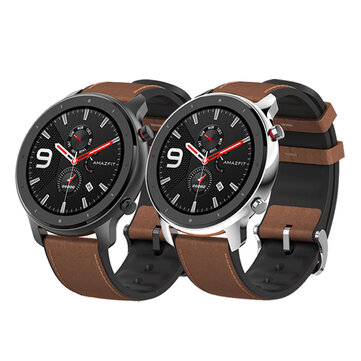 [bluetooth 5.0]Amazfit GTR 47MM AMOLED Smart Watch GPS+GLONASS 12 Sports Mode 5ATM Music Control Wristband Global Version