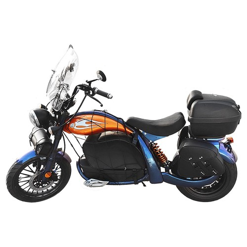"""CityCoco Racing Electric Motor Cycle E-Bike 2000W Brushless Motor 28Ah Battery Max Speed 45km/h Front 16"""" Rear 13"""" Fat Tire Hydraulic Disc Brake LED Light"""