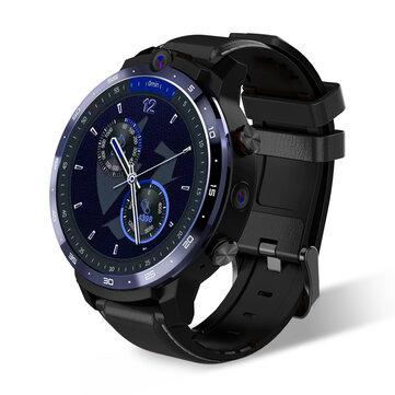 [Face Unlock]LEMFO LEM12 1.6 Inch Full Round Smart Watch Dual Camera Music Play Store 3G+32G WIFI GPS 4G Watch Phone