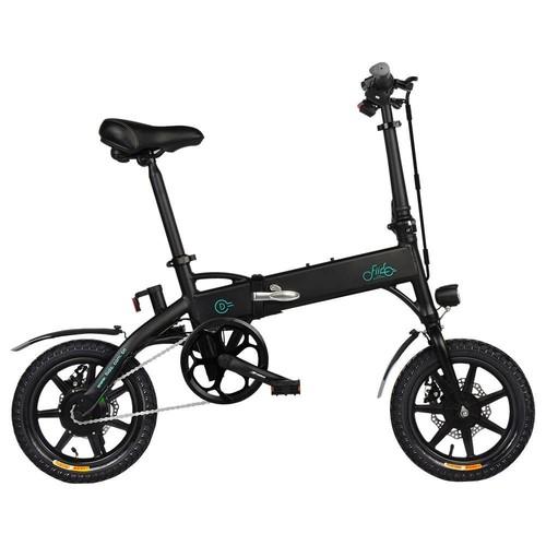 FIIDO D1 Folding Electric Moped Bike City Bike Commuter Bike Three Riding Modes 14 Inch Tires 250W Motor 25km/h 10.4Ah Lithium Battery 40-55KM Range - Black