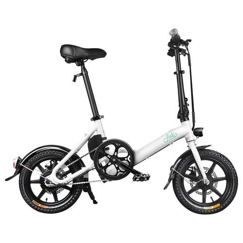 FIIDO D3 Folding Electric Moped Bike City Bike Commuter Bike Three Riding Modes 14 Inch Tires 250W Motor 25km/h 7.8Ah Lithium Battery 25-40KM Range - White