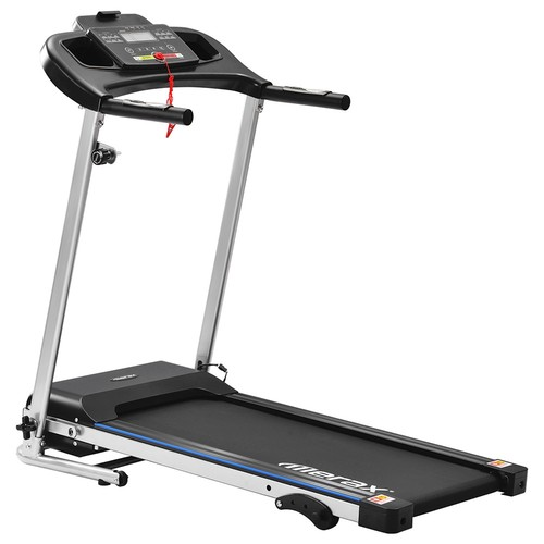 Merax Folding Electric Treadmill Indoor Exercise Training 500W Motor Speed Up To 12km/h 12 Automatic Programs 3 Incline Levels LCD Display - Black