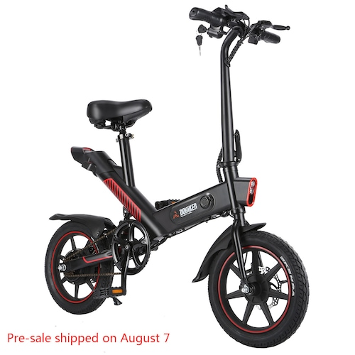 DOHIKER Y1 Folding Electric Bicycle 350W 36V Waterproof Electric Bike with 14inch Wheels 10Ah Rechargeable Battery